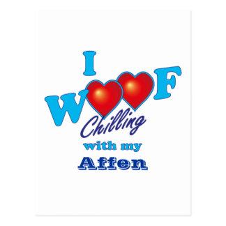 I Woof Affen Postcard