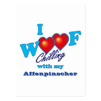 I Woof Affenpinscher Postcard