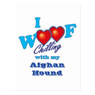 I Woof Afghan Hound Postcard