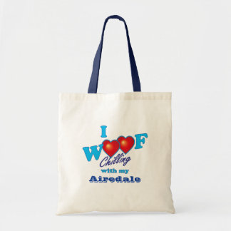I Woof Airedale Terrier Tote Bag