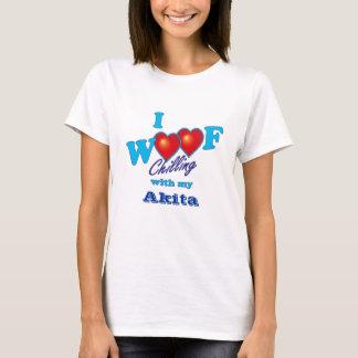 I Woof Akita T-Shirt