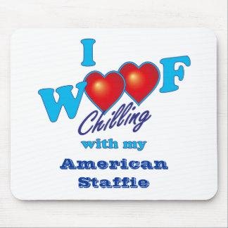 I Woof American Staffie Mousepad