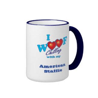 I Woof American Staffie Coffee Mug