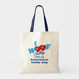 I Woof Australian Cattle Dog Tote Bag