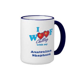 I Woof  Australian Shepherd Coffee Mugs