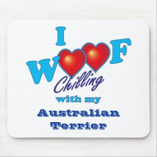 I Woof Australian Terrier Mouse Pad