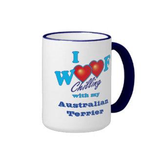 I Woof Australian Terrier Ringer Mug