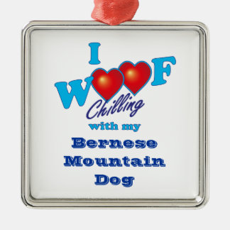 I Woof Bernese Mountain Dog Christmas Ornament