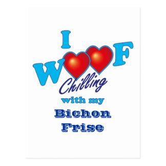 I Woof Bichon Frise Postcard