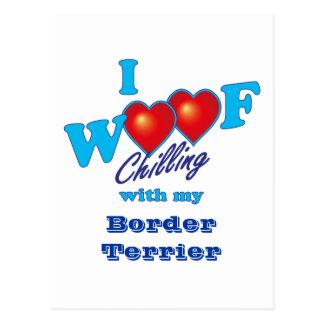 I Woof Border Terrier Postcard