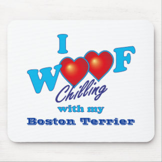 I Woof Boston Terrier Mouse Mat