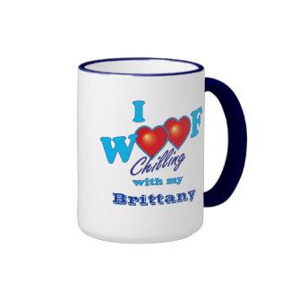 I Woof Brittany Coffee Mug