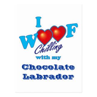 I Woof Chocolate Labrador Postcard