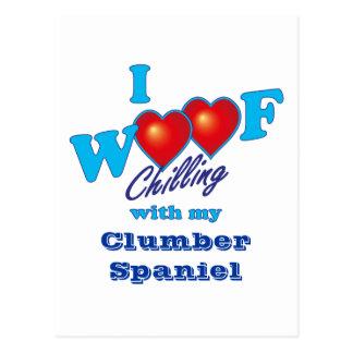 I Woof Clumber Spaniel Postcard