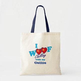 I Woof Collie Tote Bag