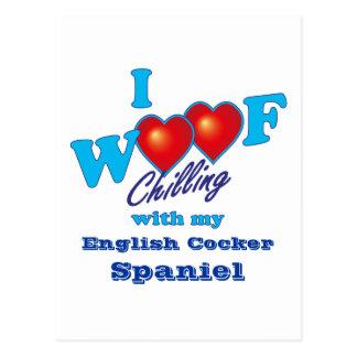 I Woof English Cocker Spaniel Postcard