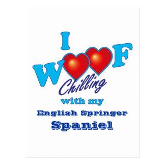 I Woof English Springer Spaniel Postcard