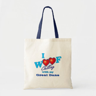 I Woof Great Dane Tote Bag