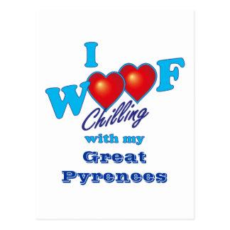 I Woof Great Pyrenees Postcard