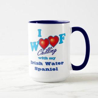 I Woof Irish Water Spaniel Mug