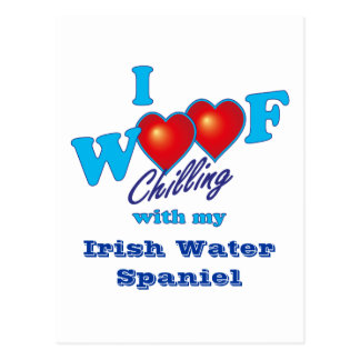 I Woof Irish Water Spaniel Postcard