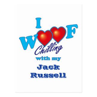 I Woof Jack Russell Postcard