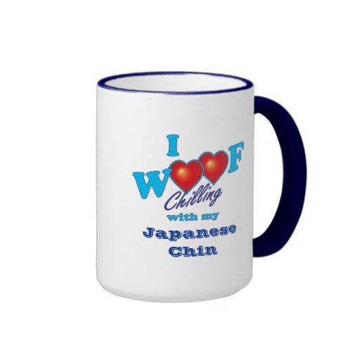 I Woof Japanese Chin Mugs