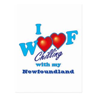 I Woof Newfoundland Postcard