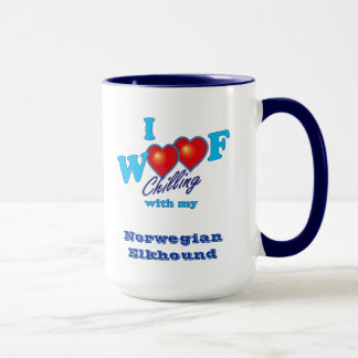 I Woof Norwegian Elkhound Mug