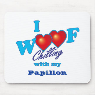 I Woof Papillon Mouse Pad
