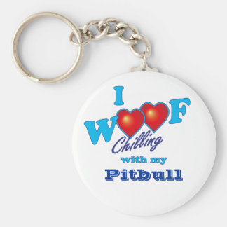 I Woof Pitbull Key Ring