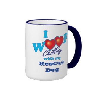 I Woof Rescue Dog Coffee Mugs