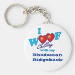 I Woof Rhodesian Ridgeback Basic Round Button Key Ring