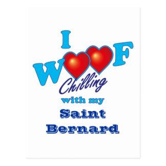 I Woof Saint Bernard Postcard