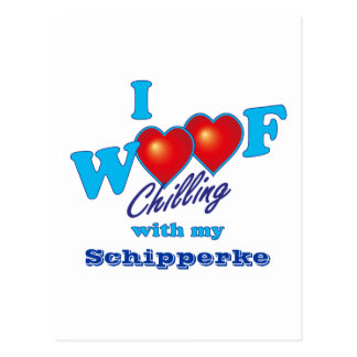 I Woof Schipperke Postcard
