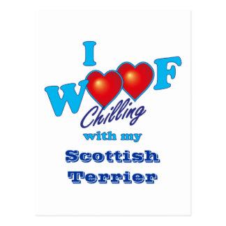 I Woof Scottish Terrier Postcard