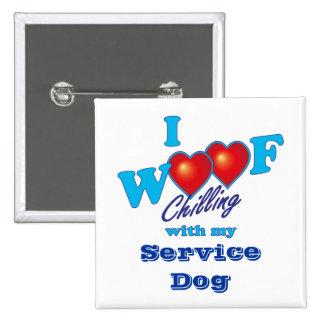 I Woof Service Dog Pin