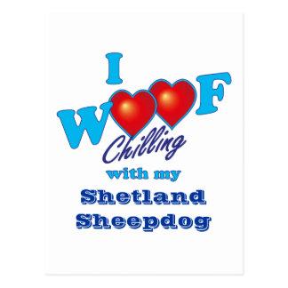 I Woof Shetland Sheepdog Postcard