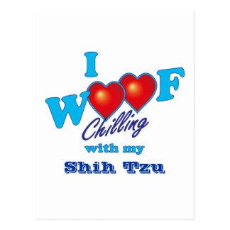I Woof Shih Tzu Postcard