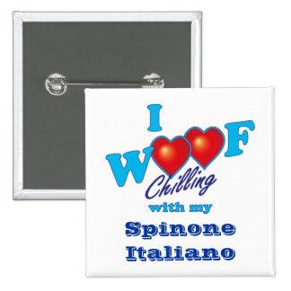 I Woof Spinone Italiano 15 Cm Square Badge
