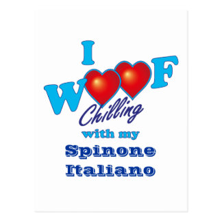 I Woof Spinone Italiano Postcard