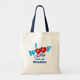I Woof Staffies Budget Tote Bag