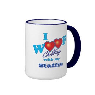 I Woof Staffies Ringer Mug