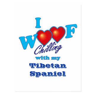 I Woof Tibetan Spaniel Postcard