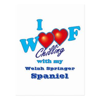 I Woof Welsh Springer Spaniel Postcard