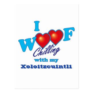 I Woof Xoloitzcuintli Postcard
