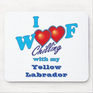 I Woof Yellow Labrador Mousepads