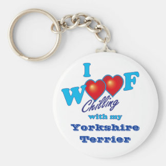I Woof Yorkshire Terrier Key Ring