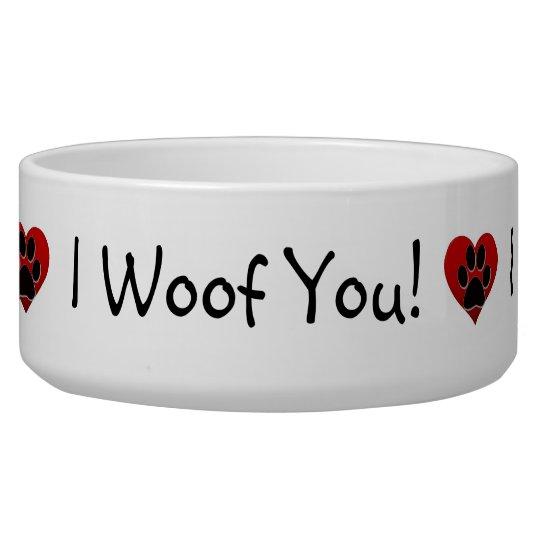 I woof you pet bowls