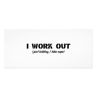 I Work Out Just Kidding I Take Naps Custom Rack Cards